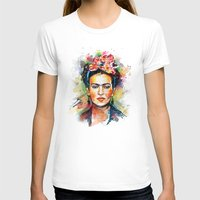 woman T-shirts featuring Frida Kahlo by Tracie Andrews