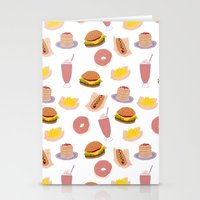 american diner food Stationery Cards