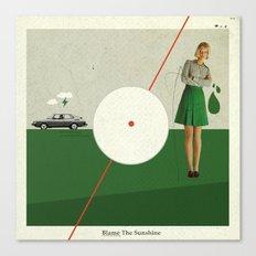 Blame The Sunshine | Collage Canvas Print