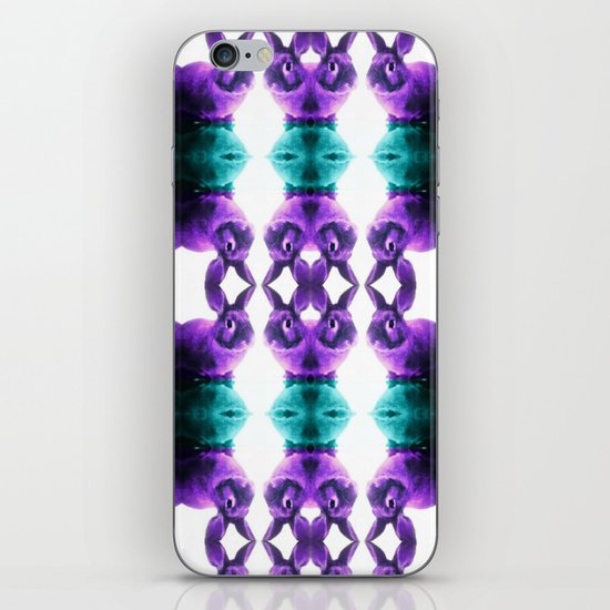 Turquoise/Lavender Rabbit  iPhone & iPod Skin