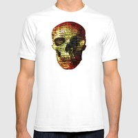 Opportunistic Species (P/D3 Glitch Collage Studies) Mens Fitted Tee White SMALL