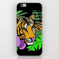 iPhone & iPod Skin featuring Tiger Stencil by SwanniePhotoArt