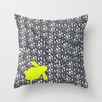 Naked Turtle Throw Pillow