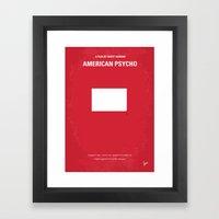 No005 My American Psycho minimal movie poster Framed Art Print