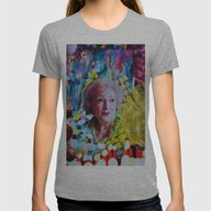 Betty White Womens Fitted Tee Athletic Grey SMALL