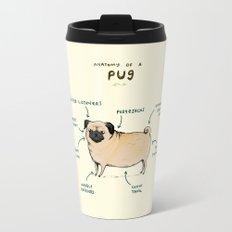 Anatomy of a Pug Travel Mug