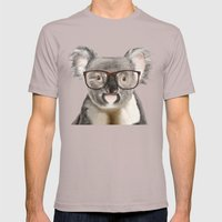 A Baby Koala With Glasse… Mens Fitted Tee Cinder SMALL
