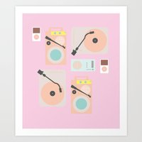 Music Lover Pastel Art Print