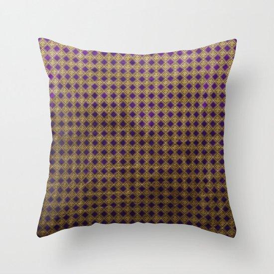 Royal Purple - Textured Pattern Throw Pillow