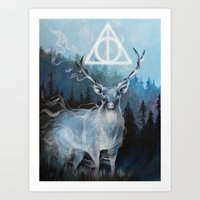 My Patronus is a Stag Art Print