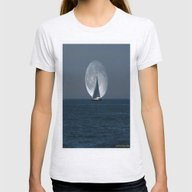 Sailing With A Romance M… Womens Fitted Tee Ash Grey SMALL