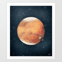 The Red Planet Art Print