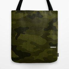 Modern Woodgrain Camouflage / Greenwoods DPM Tote Bag