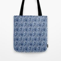 Big Shells: Navy Tote Bag