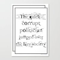 The Quick Corrupt Canvas Print