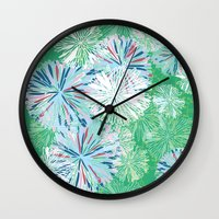 Retro Bloom Wall Clock