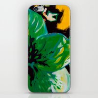 Green Flower iPhone & iPod Skin
