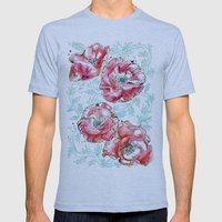Poppies & Vines Mens Fitted Tee Athletic Blue SMALL