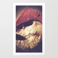 Rockabilly Skull Art Print