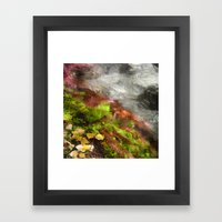 Water Abstractions Framed Art Print