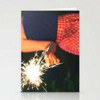 summer sparkler Stationery Cards