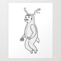On the inconveniences of dressing up as an animal. Art Print