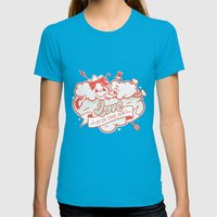 Love Is In The Air Womens Fitted Tee Teal SMALL