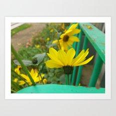 Green & Yellow Perspective Art Print