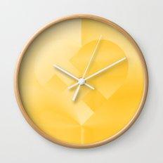 Danish Heart Gold #181 Happy Holidays! Wall Clock