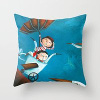 The trip Throw Pillow