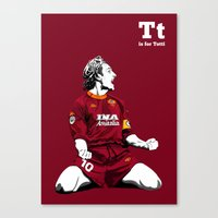 T Is For Totti Canvas Print