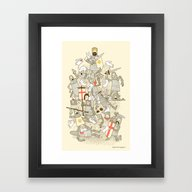 Framed Art Print featuring Bad Tempered Rodents by Anna-Maria Jung