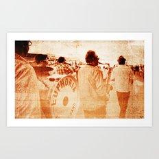 Jazz on da move Art Print