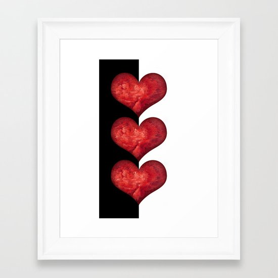 Heart Design 101 Framed Art Print