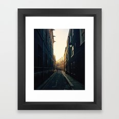 Cambridge street Framed Art Print