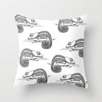 Chameleon Throw Pillow