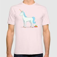 Unicorn Poop Mens Fitted Tee Light Pink SMALL