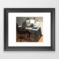Pc Framed Art Print