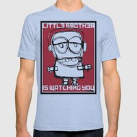 Little Brother Is Watchi… Mens Fitted Tee Athletic Blue SMALL