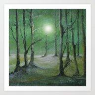 Track 5: Green Winter Art Print