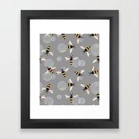 Bubble Bees Framed Art Print