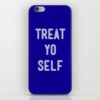 Treat Yo Self Blue - Par… iPhone & iPod Skin