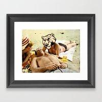 BEACHASSHO Framed Art Print
