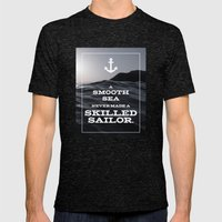 Skilled Sailor Mens Fitted Tee Tri-Black SMALL