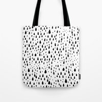 Polka Rain Drops Tote Bag