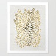 Art Print featuring Gold Ivy by Cat Coquillette