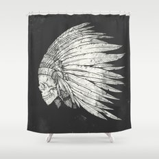 Indian Skull Shower Curtain