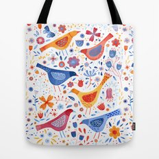 Birds in a Garden Tote Bag
