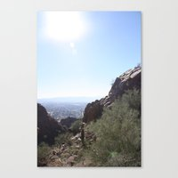 Between the Boulders Canvas Print