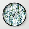 Blue branches Wall Clock